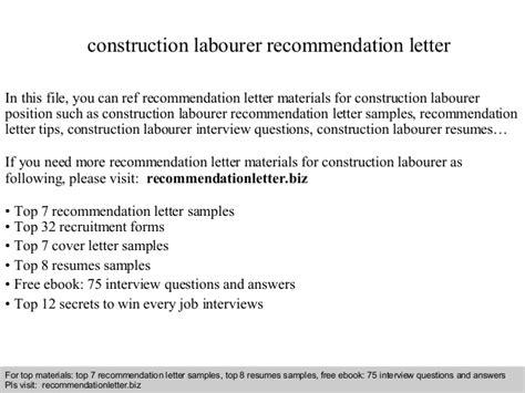 Recommendation Letter Là Gì Construction Labourer Recommendation Letter