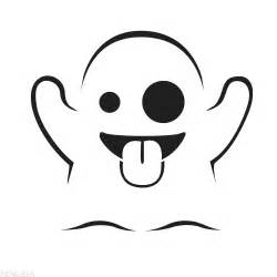 Emoji Ghost Colouring Pages sketch template