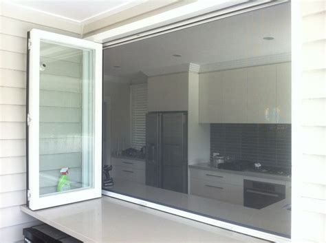 Kitchen Screen by Retractable Fly Screen On A Bi Fold Servery Connect With