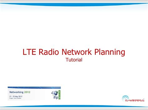 Lte Tutorial Powerpoint | lte radio network planning tutorial from is wireless