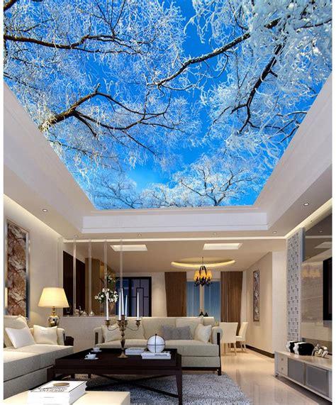 3d fototapete decke blau sky tree decke wohnzimmer tv hintergrund schlafzimmer
