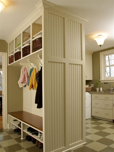L Shaped House With Porch by Small Space Mudroom Solutions Hgtv