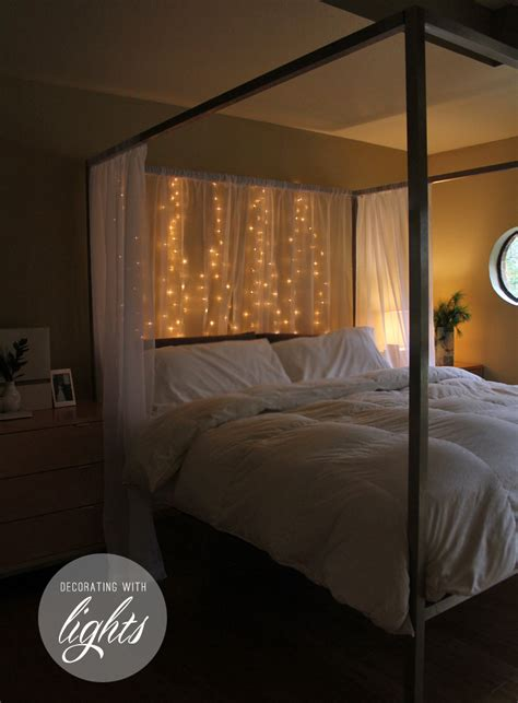 Remodelaholic Holiday Decorating Ideas For Every Room In Decoration Lights For Bedroom