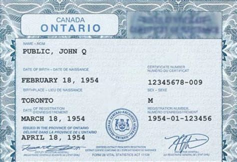 canadian full birth certificate ontario plans gender neutral birth certificates canada
