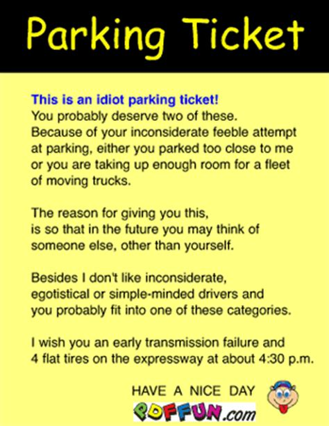 joke parking tickets printable uk image gallery joke parking tickets