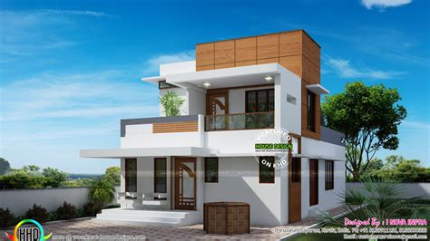 kerala home design 1500 small double floor modern house plan kerala home design