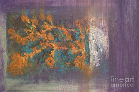 Chinaberry Tree In Orange Painting By Julie Fairbanks
