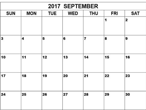 printable calendar template september 2017 september 2017 calendar printable template calendar