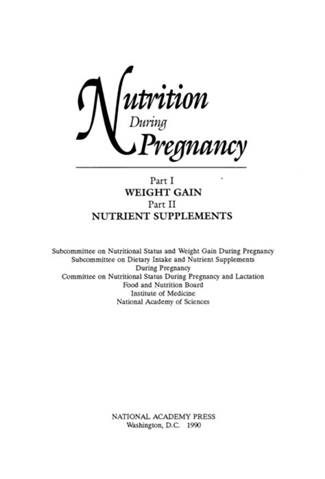 weight gain in the middle section nutrition during pregnancy part i weight gain