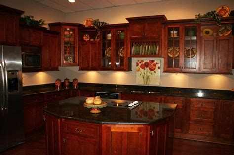 cherry red kitchen cabinets kitchen with cherry cabinets brown oak wooden kitchen