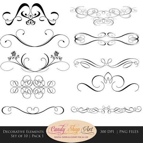 design dividers font decorative swashes swirls calligraphy swashes clip art