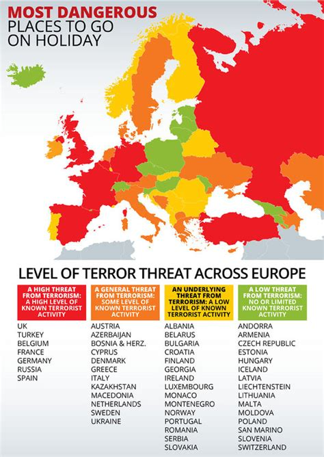 the terrorist threat in africa ã before and after benghazi books how safe is your 2016 summer map shows most