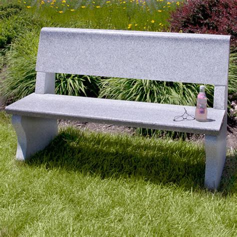 stone garden bench with back arborside polished granite bench outdoor