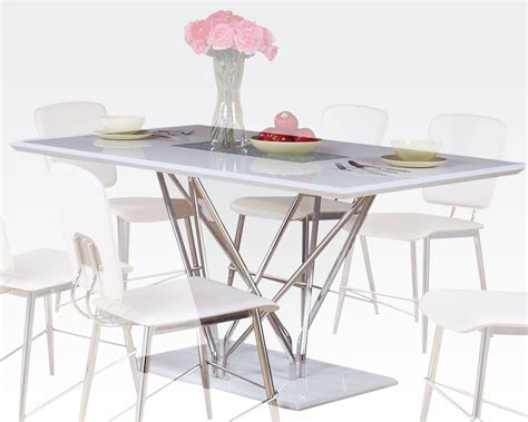 Dining Table With Glass Insert Dining Table W Glass Insert Bari By Acme Furniture Ac70910