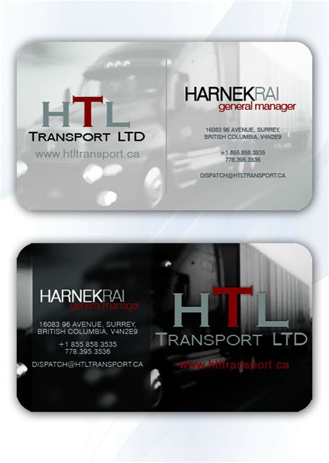 business cards templates for trucking new stock of transportation business cards business