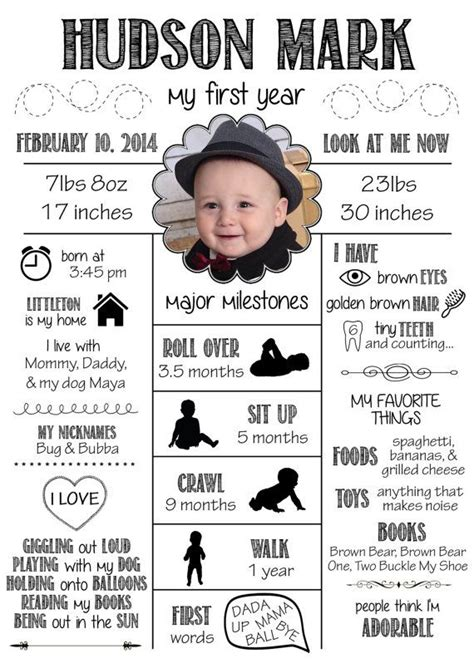 17 Best Ideas About Babies First Year On Pinterest Baby Milestones Baby Milestone Chart And Baby Year Infographic Template