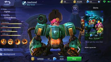 my event mobile legend jawhead features 2018 mobile legends