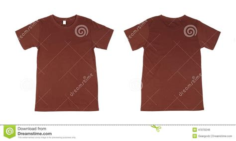 t shirt template set front back stock photo image