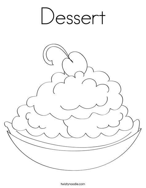 Dessert Coloring Pages dessert coloring page twisty noodle