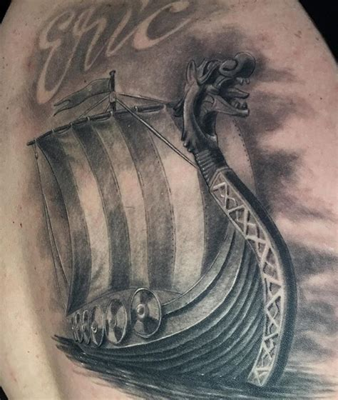 viking longship tattoo design best 25 viking ship ideas on viking