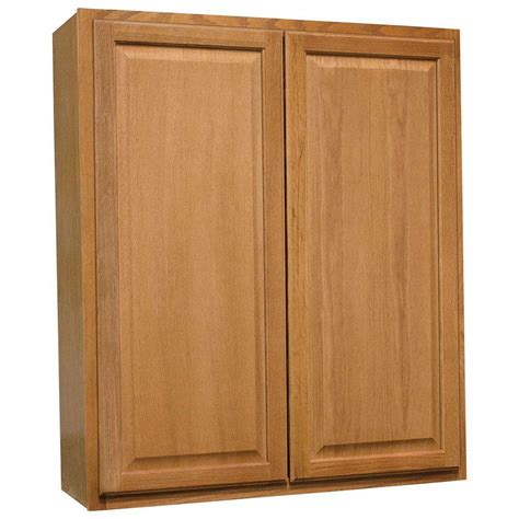 medium oak kitchen cabinets hton bay hton assembled 36x42x12 in wall kitchen