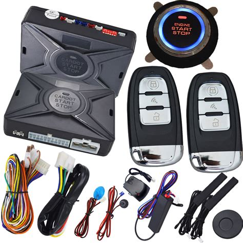 Alarm Motor Smart Key passive car alarm system smart key auto keyless entry central door lock system ignition button