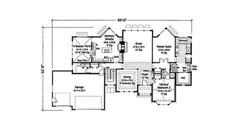 carson mansion floor plan carson bay sunbelt ranch home plan 091d 0354 house plans