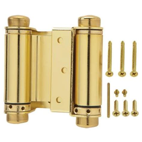 swinging doors home depot everbilt 3 in bright brass double action spring door