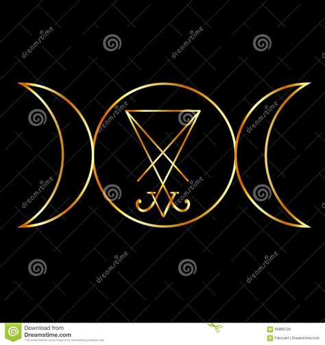 imagenes de simbolos wicca simbolo di wiccan con sigil di lucifero fotografia stock