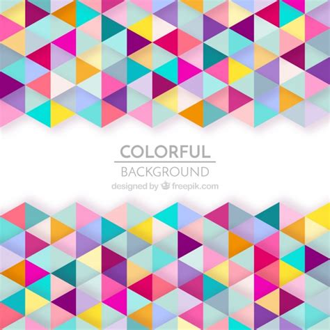 pattern geometric psd colorful geometric shapes background vector free download