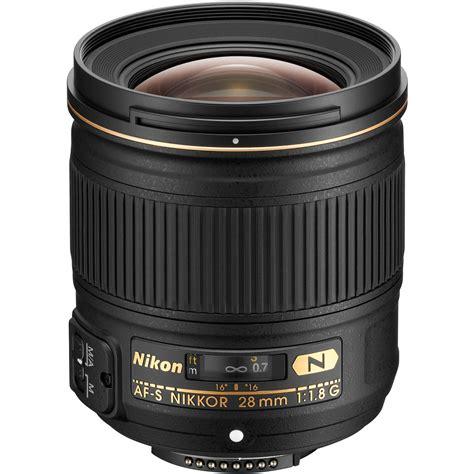 nikon af s nikkor 28mm f 1 8g lens 2203 b h photo