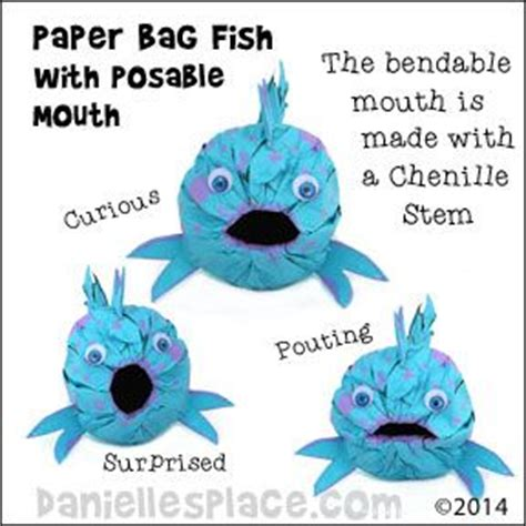 Paper Bag Fish Craft - 10 images about vbs on tissue paper