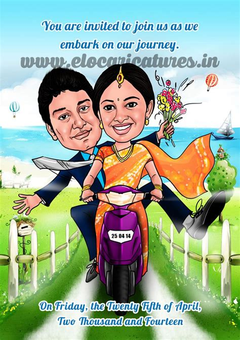 Wedding Announcement Malayalam by Indian Wedding Caricature Wedding Caricatures
