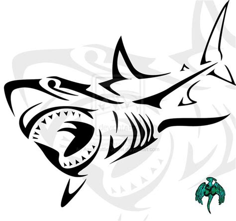 tribal great white shark tattoo tribal shark tribal great white shark