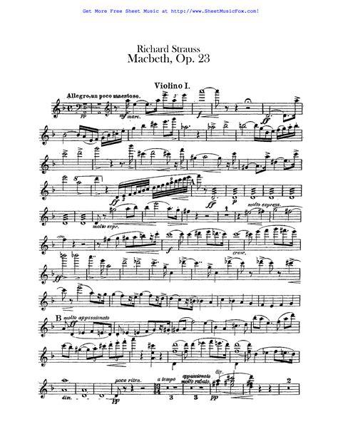 Free Sheet Music For Macbeth Op 23 Strauss Richard By