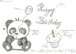 panda birthday card by kaydeeyaleni on deviantart