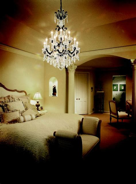romantic chandeliers bedroom brighten your bedroom with schonbek crystal chandelier
