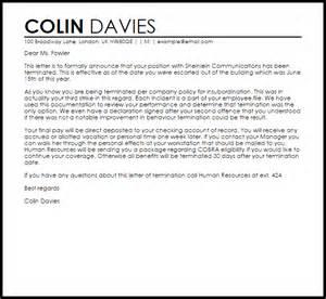 termination letter for insubordination livecareer