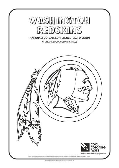 coloring pages nfl team logos cool coloring pages washington redskins nfl american