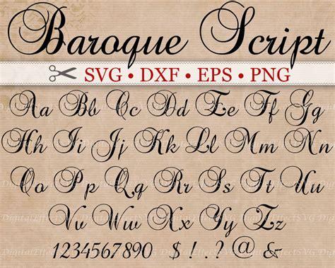 what s your favorite font the studio psnprofiles baroque script monogram svg font svg dxf eps png
