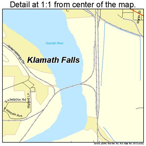map of oregon klamath falls klamath falls oregon map 4139700