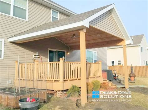 Adding Roof Patio by New Roof Existing Deck Des Moines Deck Builder