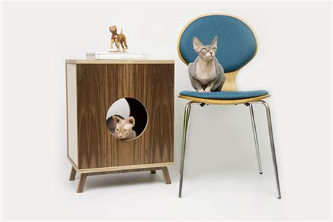 mid century modern cat furniture modernist cat mid century modern feline furniture