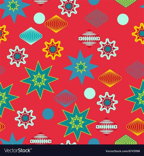 retro christmas pattern vector free retro christmas decorations seamless pattern vector image