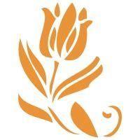 stencil aerografia tattoo floral  tulipan en