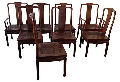henredon asian inspired dining chairs  modern