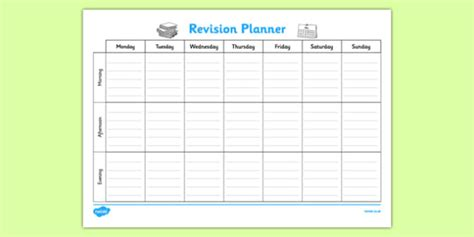 revision planner template weekly study timetable template contemporary