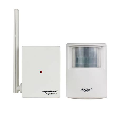 wireless motion sensor skylink remote controllable wireless motion activated light kit sk10 the home depot