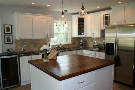 creamy white kitchen cabinets walnut kitchen island transitional kitchen sherwin