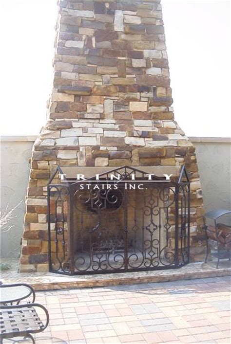 wrought iron fireplace screenstrinity stairs